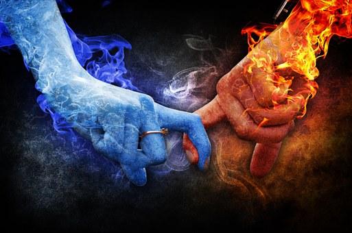 flammes jumelles